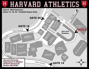 Harvard Athletics map