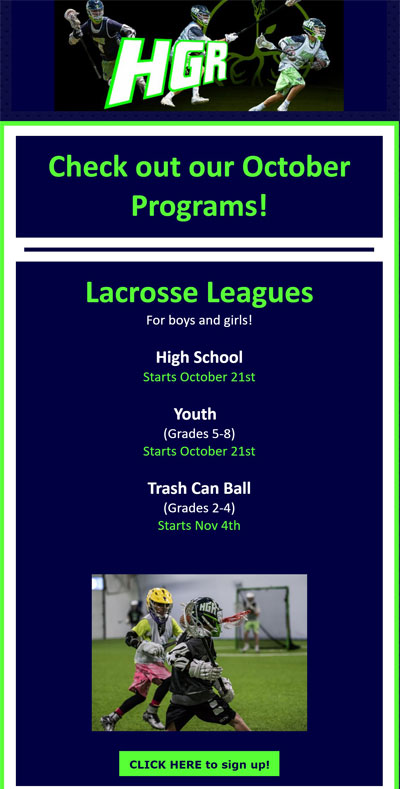 Lacrosse Leagues October 2017