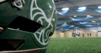 Indoor field and helmet